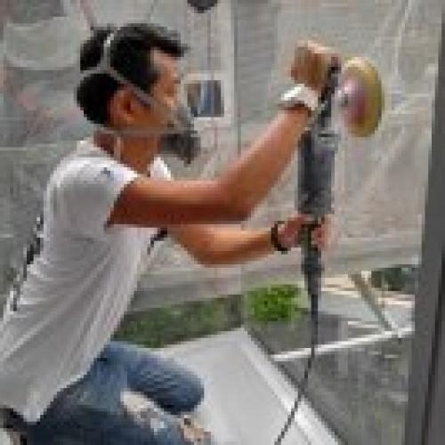 玻璃刮痕修復